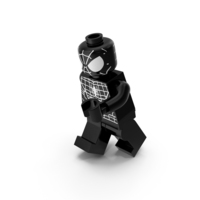 Lego Spiderman Black Running PNG & PSD Images