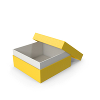 Cardboard Box Opened Yellow PNG & PSD Images