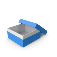 Cardboard Box Opened Blue PNG & PSD Images