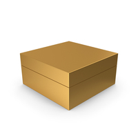 Cardboard Box Gold PNG & PSD Images