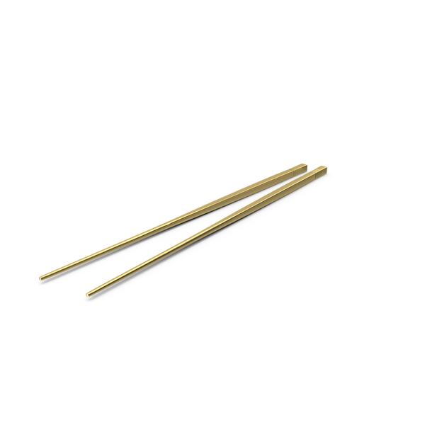Golden Chopsticks PNG & PSD Images
