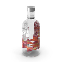 Absolut Ruby Red Vodka Bottle PNG & PSD Images
