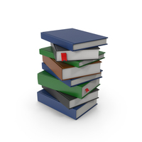 Book Stack PNG & PSD Images