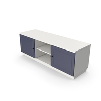 TV Stand Blue White PNG & PSD Images