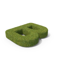 Grass Capital Top View Letter B PNG & PSD Images