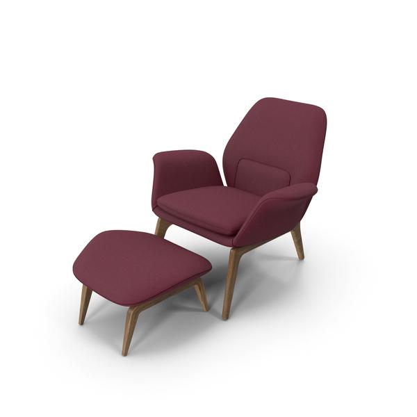 Lounge Chair Oak Violet PNG & PSD Images