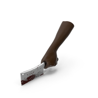 Hand Holding a Bloody Cleaver PNG & PSD Images