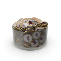 Bowl with Russian Chocolate Coins PNG & PSD Images