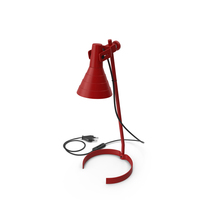 Desk Lamp Red PNG & PSD Images