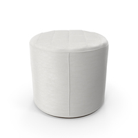 Leather Pouf White PNG & PSD Images