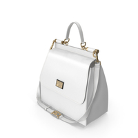 Dolce Gabbana Woman's Bag White PNG & PSD Images