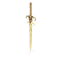 Golden Fantasy Sword PNG & PSD Images