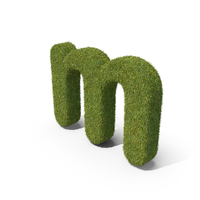 Grass Small Letter M PNG & PSD Images