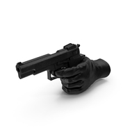 Glove Pointing a Gun PNG & PSD Images