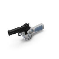 RoboHand Pointing a Gun PNG & PSD Images