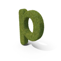 Grass Small Letter P PNG & PSD Images