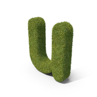 Grass Small Letter U PNG & PSD Images
