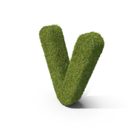 Grass Small letter V PNG & PSD Images