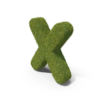 Grass Small Letter X PNG & PSD Images