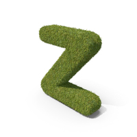 Grass Small Letter Z PNG & PSD Images