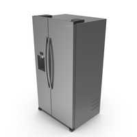 Samsung Stainless Side By Side Refrigerator PNG & PSD Images