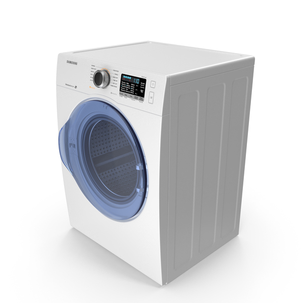 Samsung White Front Load Dryer PNG & PSD Images