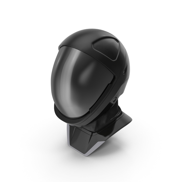 Sci Fi Astronaut Helmet Black PNG & PSD Images