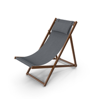 Folding Beach Chair with Pillow PNG & PSD Images