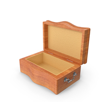 Vintage Wooden Box Opened PNG & PSD Images