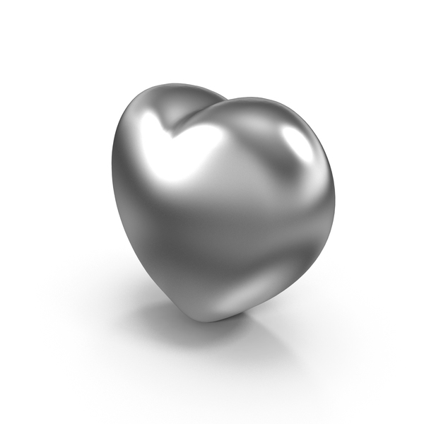 Silver Valentines Heart PNG & PSD Images