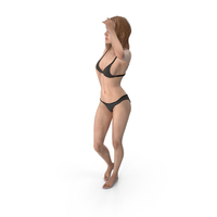 Athletic Woman Posing PNG & PSD Images