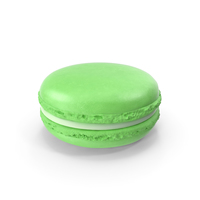 French Macaroon Green PNG & PSD Images
