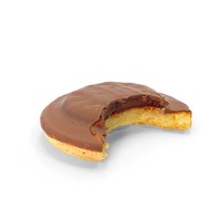 Chocolate Jaffa Cake with Raspberry Jelly Bitten PNG & PSD Images