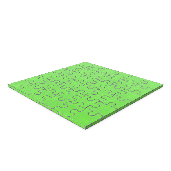 Jigsaw Puzzle 6x6 Green Metal PNG & PSD Images