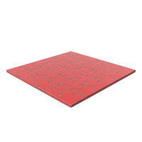 Jigsaw Puzzle 6x6 Red Painted Metal PNG & PSD Images