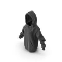 Womens Hoody Black PNG & PSD Images