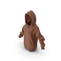 Womens Hoody Brown PNG & PSD Images
