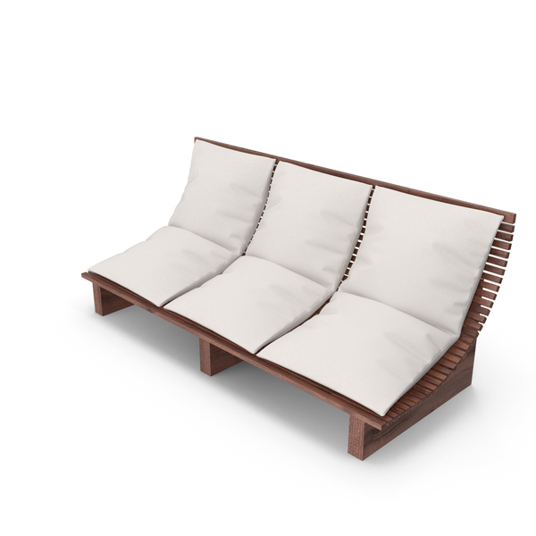 3 Seater Outdoor Wood Platform Lounge Setting PNG & PSD Images