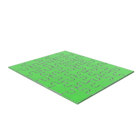 Jigsaw Puzzle 5x6 Steel Painted Green PNG & PSD Images