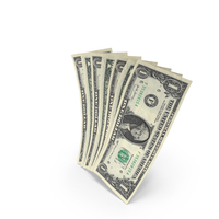 Handful of 1 US Dollar Banknote Bills PNG & PSD Images