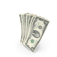 Handful of 2 US Dollar Banknote Bills PNG & PSD Images