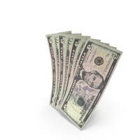 Handful of 5 US Dollar Banknote Bills PNG & PSD Images