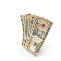 Handful of 10 US Dollar Banknote Bills PNG & PSD Images