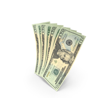 Handful of 20 US Dollar Banknote Bills PNG & PSD Images
