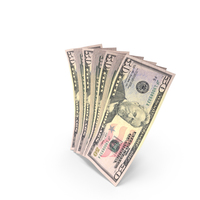 Handful of 50 US Dollar Banknote Bills PNG & PSD Images