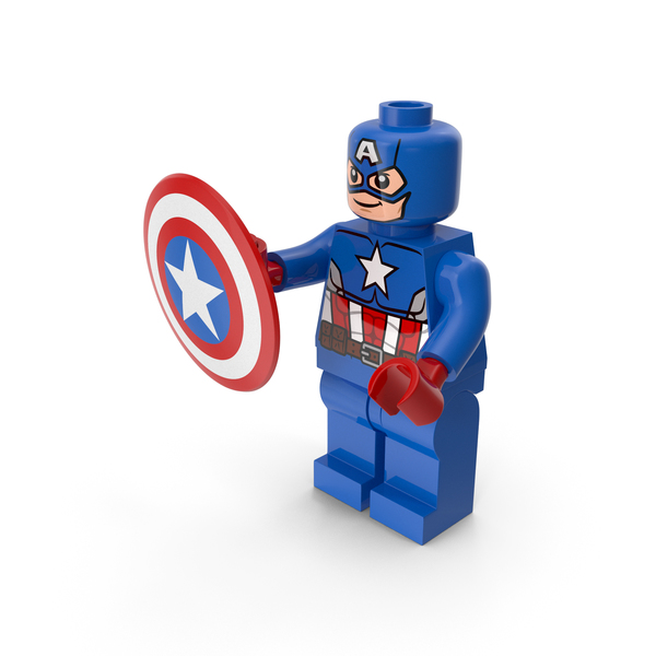 Lego Captain America With Shield PNG & PSD Images