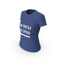 Female Crew Neck  Worn I'm with Stupid PNG & PSD Images