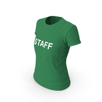 Female Crew Neck Worn Staff PNG & PSD Images