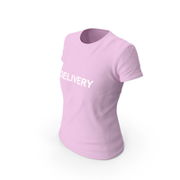 Female Crew Neck Worn Delivery PNG & PSD Images