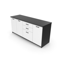 Kitchen Cabinet Black White PNG & PSD Images